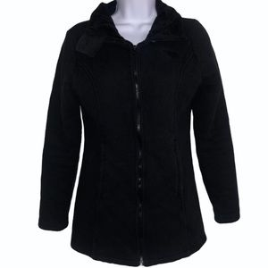 The North Face Small Black Coat Down Faux Fur